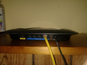 linksys WRT310n Plugged In