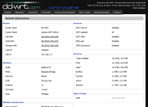 linksys WRT310n - Router Admin Page