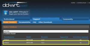 dd-wrt Router Database - wrt310n v2