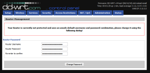 First-time login to DD-WRT