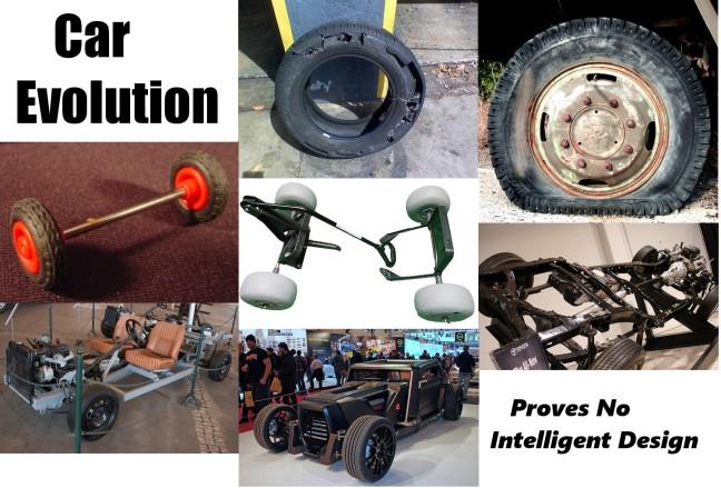 Car evolution...proves no intelligent design