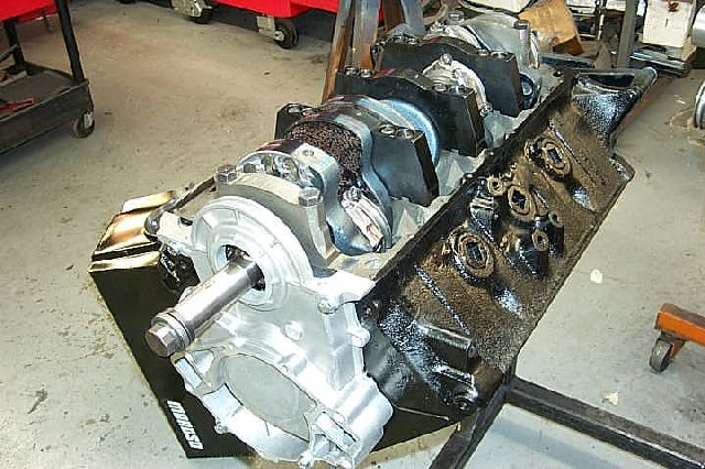 Partly disassembled car motor