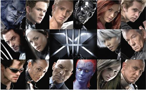 Collage of x-men